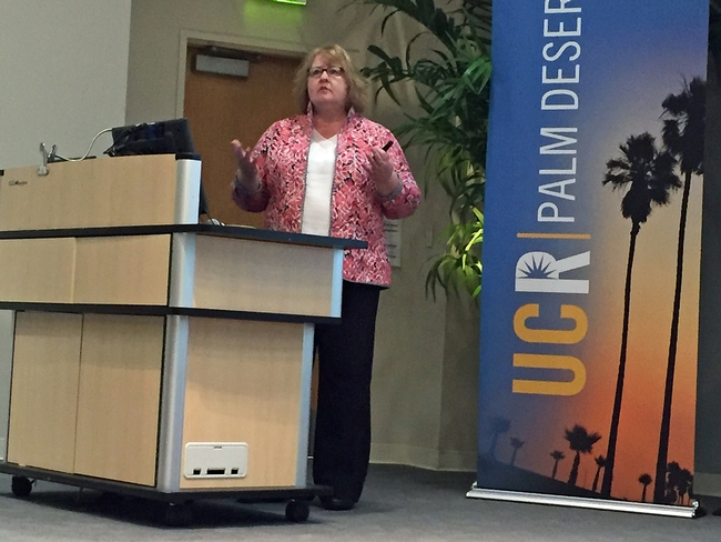 UC ANR Associate Vice President Wendy Powers was the symposium's plenary session keynote speaker.