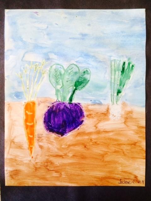 Kindergarten art inspired by classroom outreach presentation