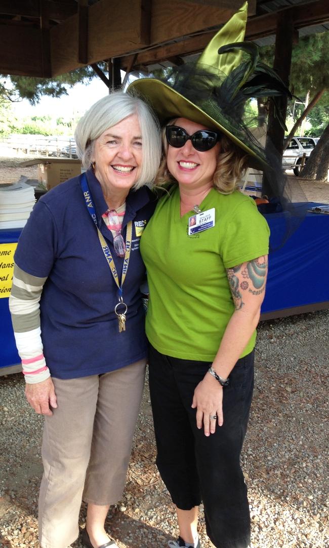 Annabel Faris, Program Coordinator and Olivelands teacher Paula Brown enjoy the day