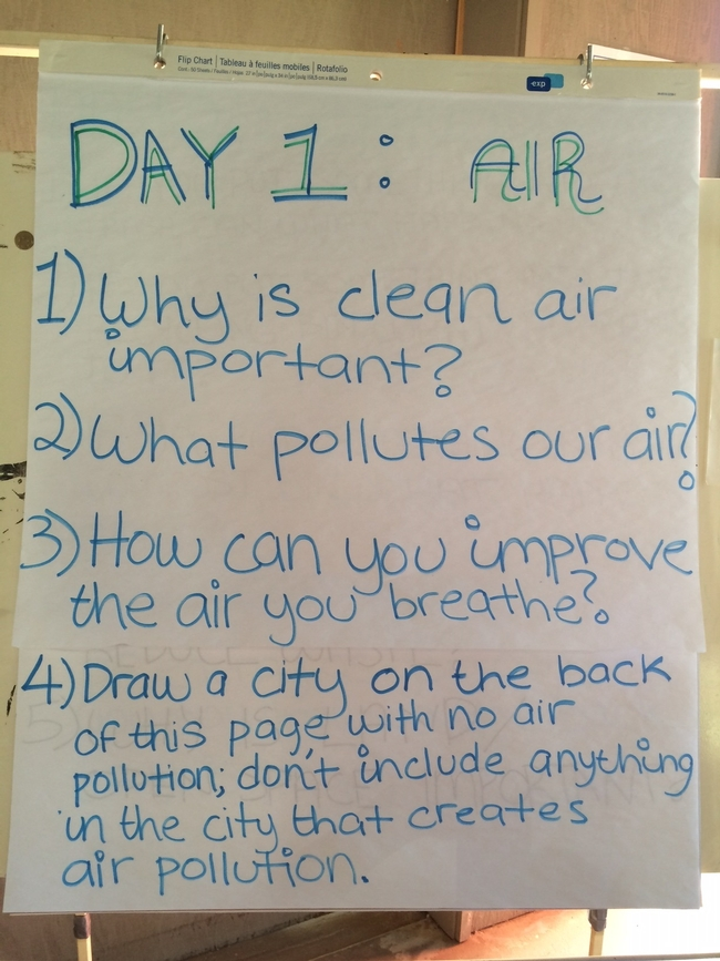 Journal questions for Day 1 Air gets us thinking!