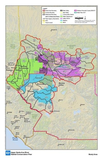 Upper Santa Ana River HCP boundary