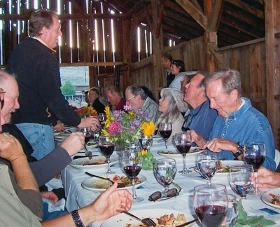 Offering dinner in a winery barn is a form of agritouism.