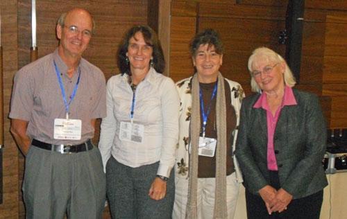 UC Davis Postharvest Technology Center instructors to the Balkans Regional Postharvest Technology training: (L-R) Drs. Michael Reid, Elizabeth Mitcham, Mary Lu Arpaia, Marita Cantwell.