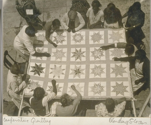 A crafts project at a Los Angeles cooperative.  Photo from the Bancroft Library, University of California, Berkeley