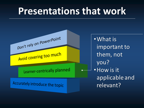 Presentations That Work--learner centric
