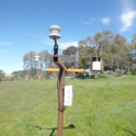 This is the new weather station in the Forage Production Plot- taken 3/7/18.