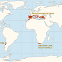 Map of world Mediterranean Climate (Google Sites)