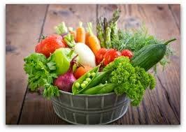 Bountiful vegetable harvest.