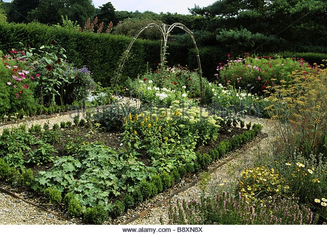 A bountiful garden of vegetables and flowers.
