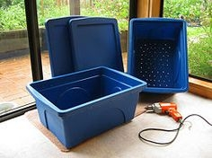 Start with storage bins and a drill.