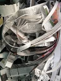 Shredded newspaper--start with this!