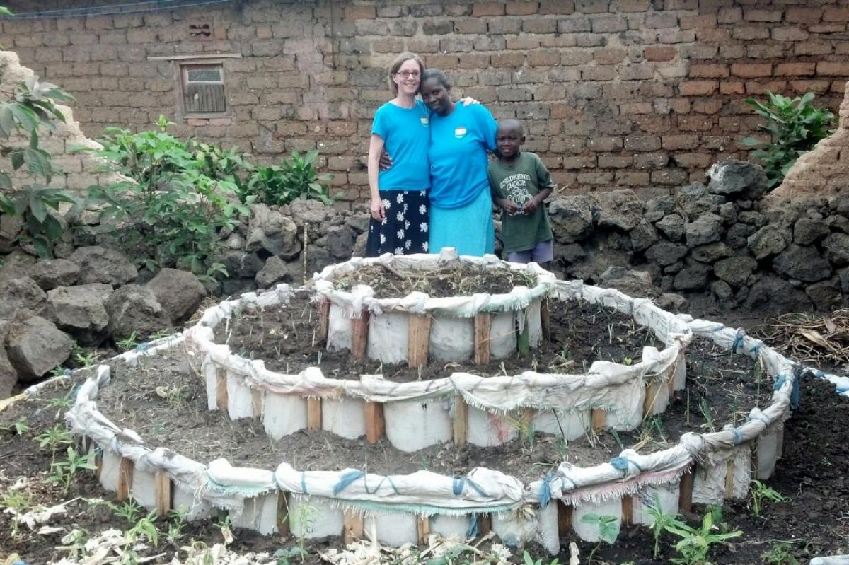 African Keyhole Garden--Great Garden Idea!