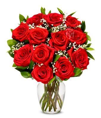 Red roses, symbol of love.