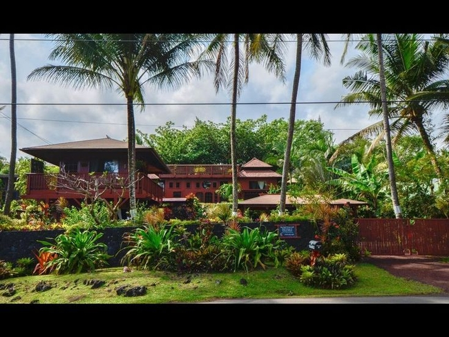 Hawaiian garden. Not exactly a pocket one, but the idea of placing a pretty spot on the street side of the fence is here.(Pinterest)