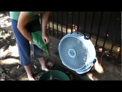 Using a fan for blowing chaff (YouTube)