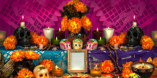 Day of the Dead flower altar (Vine Pair)