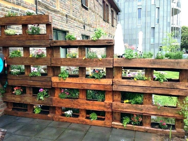 Pallet garden (arshsyed.com)  MANY more great ideas online.