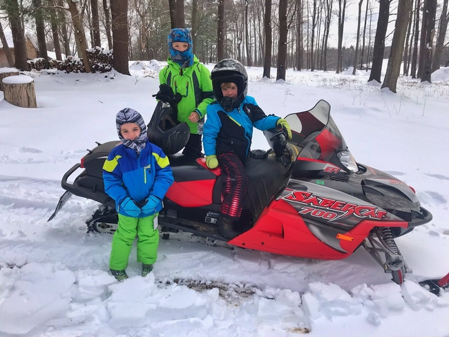 This family snowmobiling is not in Napa County.(Twitter.com)