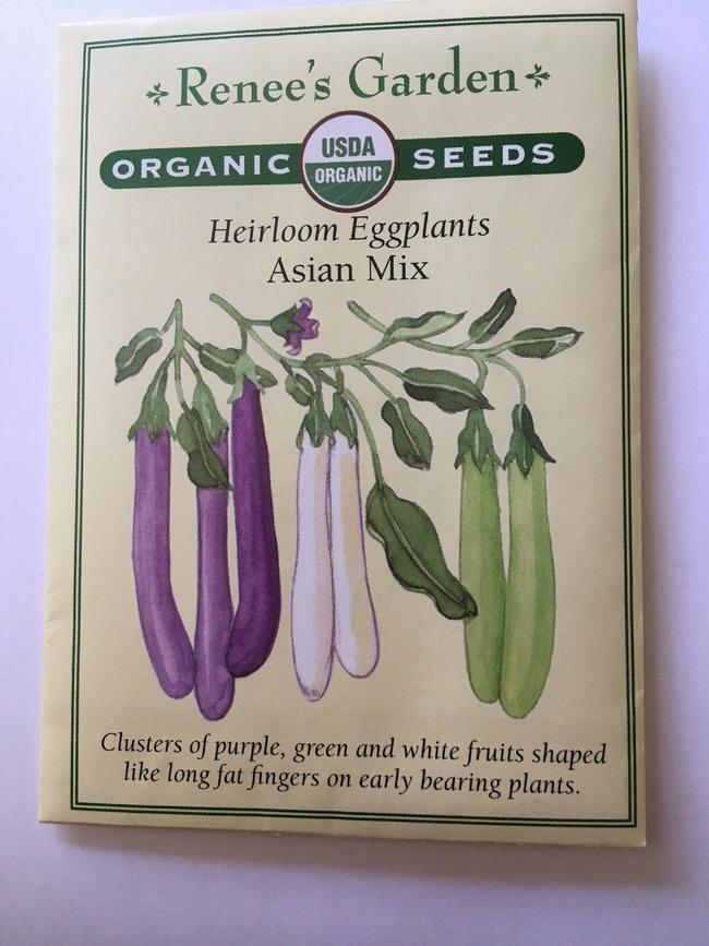 Renee's eggplant seeds (eBay)