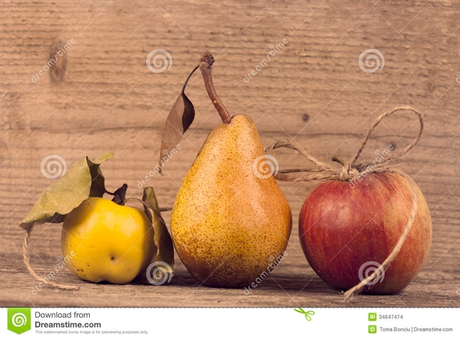 Apple, pear, quince--not in that order!  (Dreamstime)
