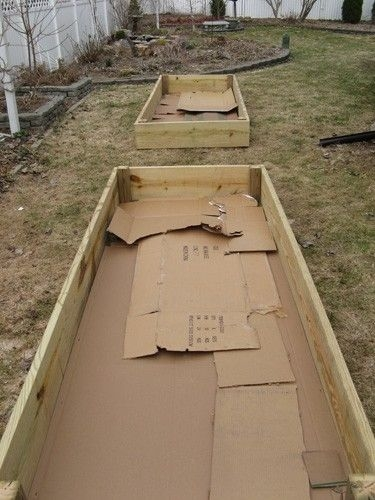 Raised bed beginning.   (Pinterest)