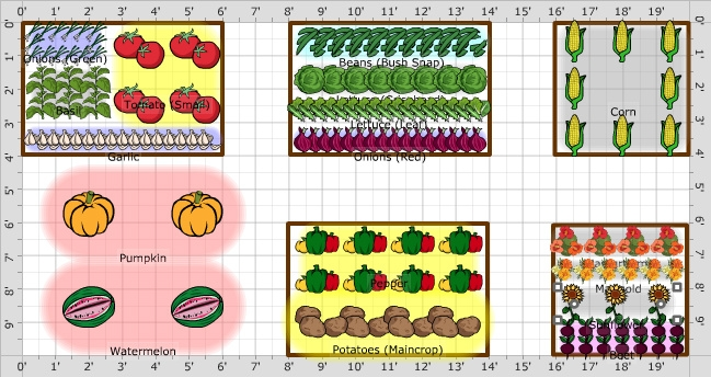 Sketch what's growing now in order to plan your fall garden.   (Mother Earth News Garden Planner)