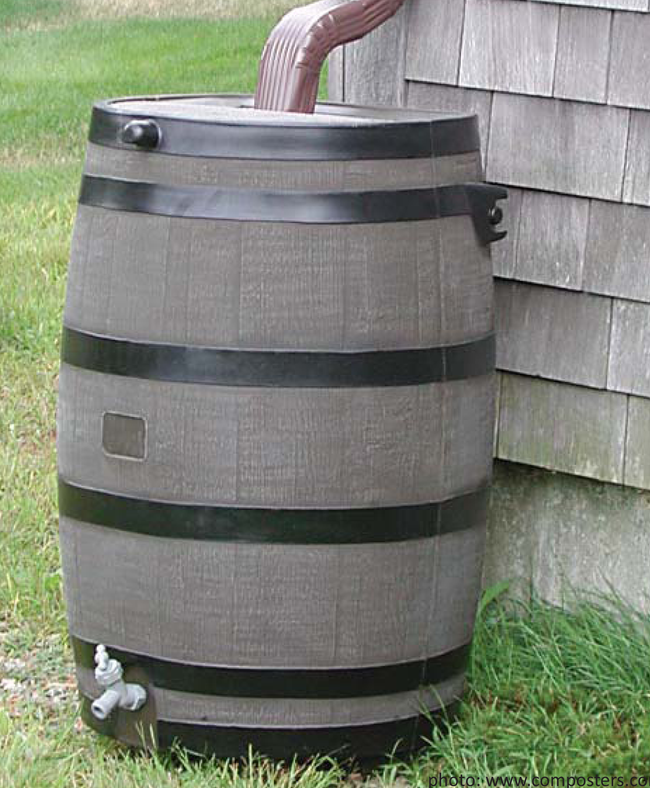 One way to collect rainwater. (askbobcarrcom)