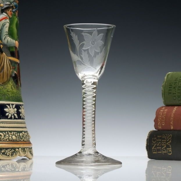 Daffodil on 18th Century glass (pintrest.com)