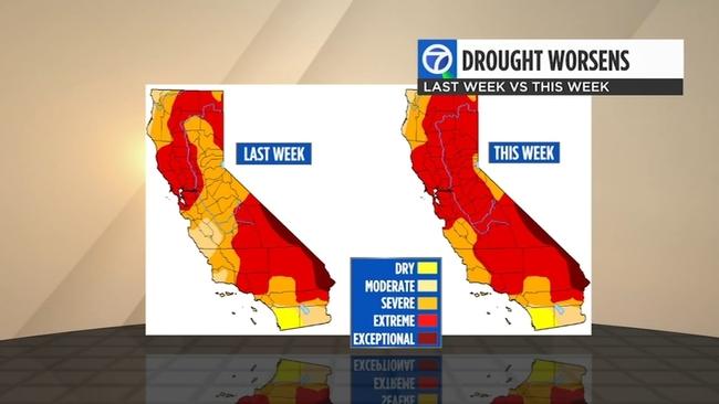 Drought map at 5.6.21. (abc7news.com)