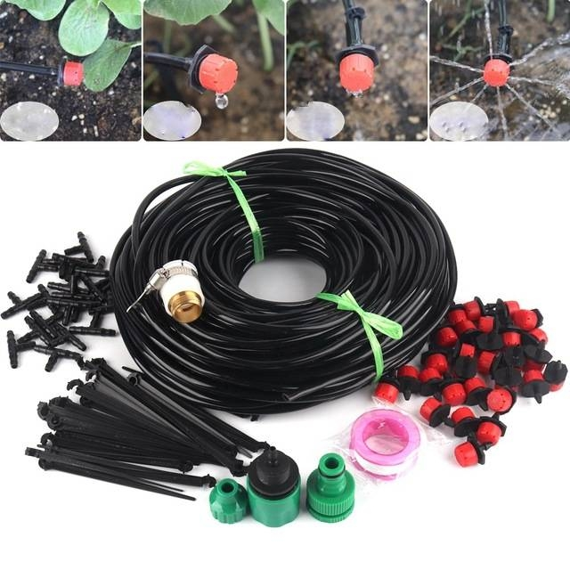 Drip irrigation can be a DIY project. This is representative of what is available to homeowners. (bestseedsonline.com)
