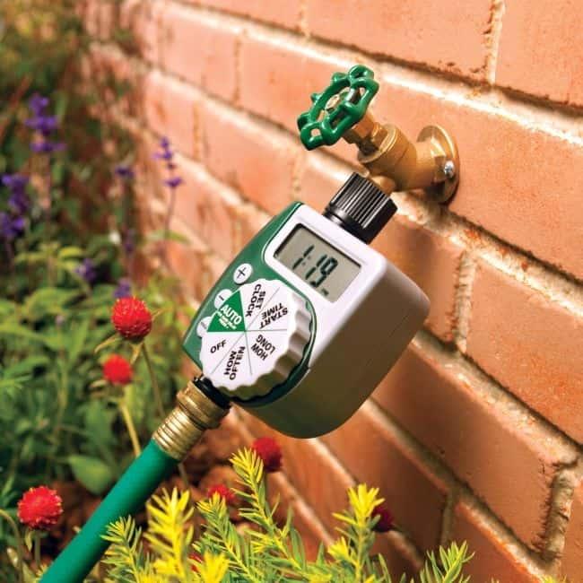 Timer for DIY drip irrigation or soaker  hose. (gardenoid.com)