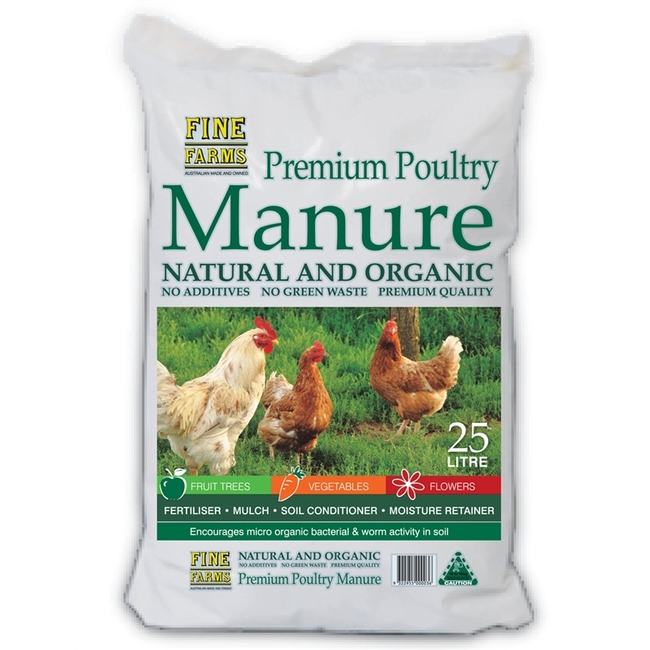 Chicken manure is available commercially. This is just an example of what is available in the marketplace. (bunnings.com.au)