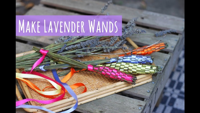 Lavender wands.  (youtube.com)