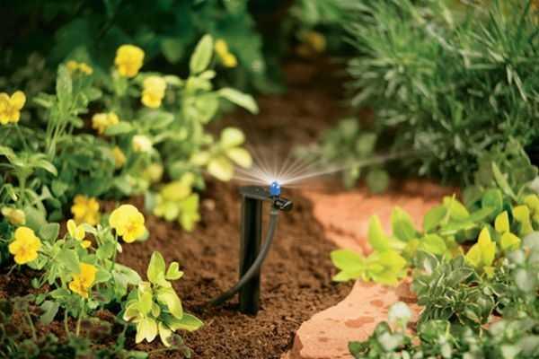 Check spray spread of microsprinklers. (sprinklersystemstore.com)