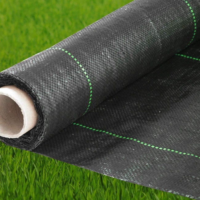 Woven landscape fabric is water and air permeable. (flowerarmor.com)