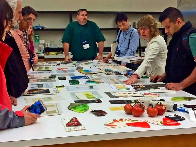 Group learns about resources for quality evaluation of various crops