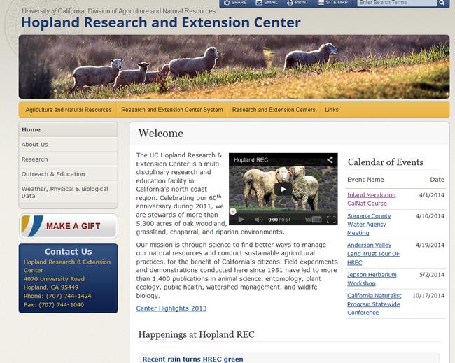 Hopland REC's new site