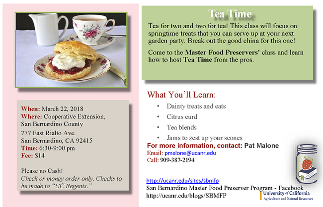 Tea time march 2018