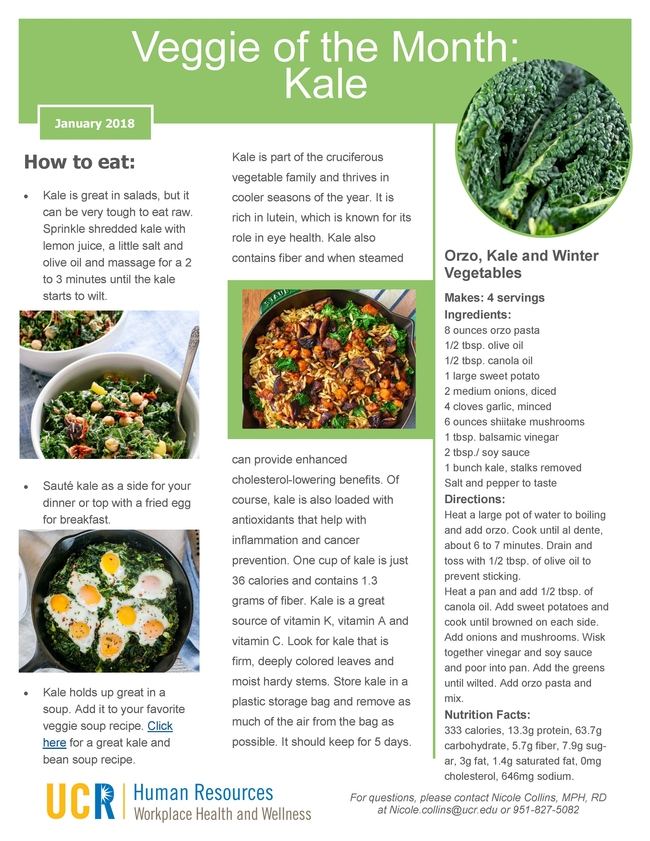 January 2018 - Veggies of the Month Page 2