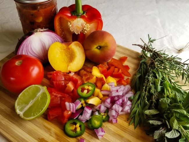 Peach salsa workshop
