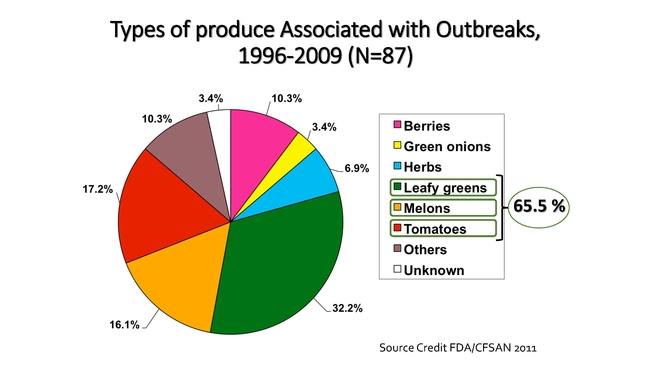 produce outbreak chart