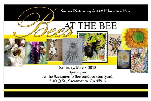 Bees At the Bee Postcard Flier front