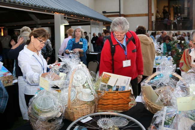Proceeds from the silent auction are used to help UC Master Gardener volunteers with financial hardships attend the conference through scholarships.