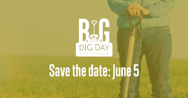 Save the date for Big Dig Day, June 5.