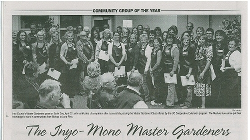 Inyo Mono County MGs Volunteer Group of the Year