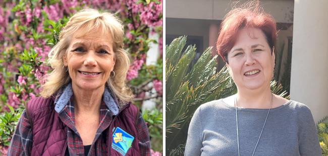 Headshot images of new coordinators Julie and Aliya
