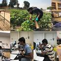 Spraying, sampling, and counting