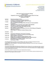 Agenda for UCCE Annual Strawberry Production Research Meeting February 20