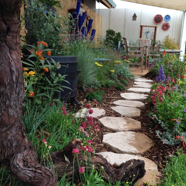The finished demo garden