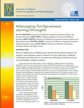 cover of Managing Turfgrasses During Drought